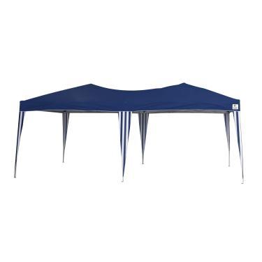Tenda Gazebo Dobrável Alumínio Bel Fix Azul 3 x 6 m