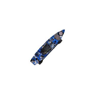 Caiaque Thork Com Pedal Evo Drive Milha Náutica Azul Camufla