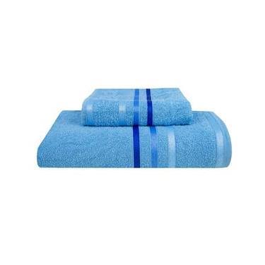Imagem de Kit 2 Peças Banho/Rosto Azul Caixa Fio Tinto 345Gr Sultan