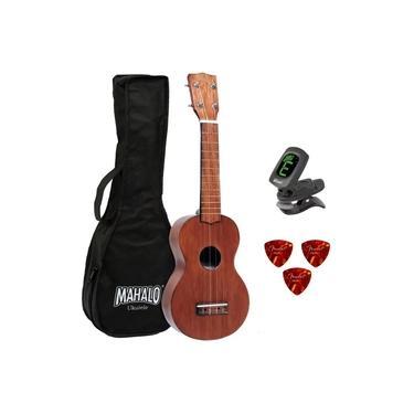 Ukulele Mahalo Mk1tbr Natural + Bag + Afinador + 3 Palhetas Fender + Akila