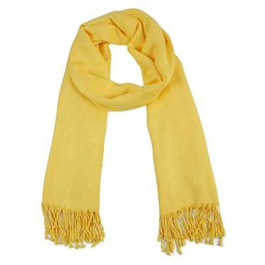 xale pashmina visc lisa amarelo besha