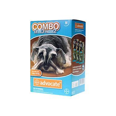 Combo Leve 3 Pague 2 - Advocate Cães 4 a 10 Kg (1,0ml) - Bayer