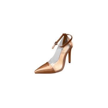Imagem de Sandálias pontudas femininas com tira no tornozelo bombas de salto alto sandálias de salto agulha sapatos de festa cool29248