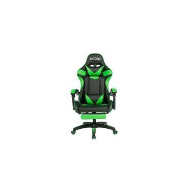 Cadeira Gamer Pctop Racer 1006 - Preta E Verde - Reclinável