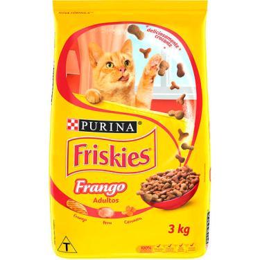 Ração Seca Nestlé Purina Friskies Frango para Gatos Adultos - 3 Kg