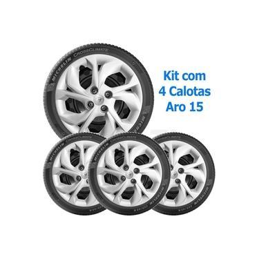 Kit 4 Calotas Hb20 2020 2021 Aro 15 Com Emblema 193Cp