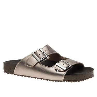 Imagem de Sandália Feminina Birken em Couro Metalic 214 Doctor Shoes-Bronze-36
