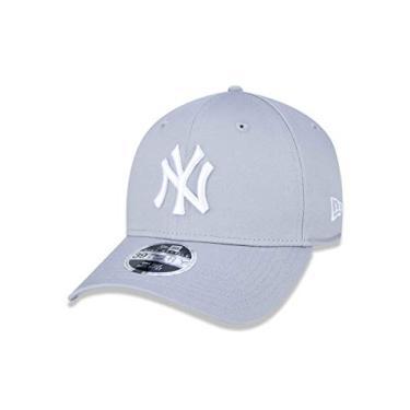 Imagem de BONE 39THIRTY MLB NEW YORK YANKEES ABA CURVA STRETCH FIT CINZA New Era