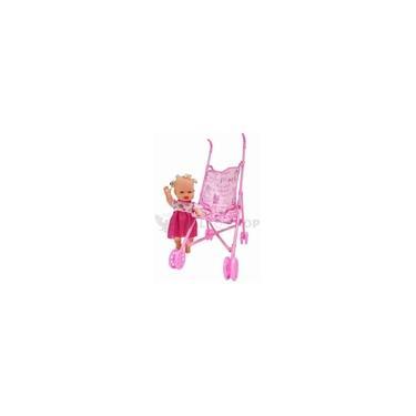 Imagem de Carrinho De Boneca Infantil + Boneca Bebe Reborn Promoção