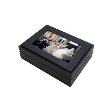 Porta Joias de Madeira Preto Personalizável c/ Foto 10x15