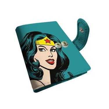 Carteira Porta-Cartão Mulher-Maravilha / Wonder Woman - DC Comics Azul