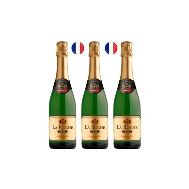 Vinho Espumante Francês Brut La Roche 3x750ml