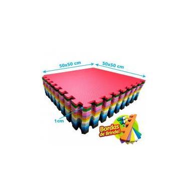 Kit 30 Pçs Tapete De Eva Tatame Escolar Infantil ginastica academia 50x50x 1cm - Yupitoys max