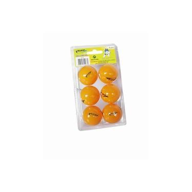 Pacote / Blister com 6 bolas para tenis de mesa , ping pong , Bolinhas cor Laranja ORIGINAL KLOPF 5076