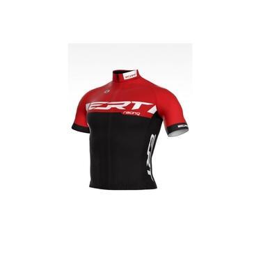 Camisa Ciclismo Bike Ert New Elite Racing Vermelho e Preto