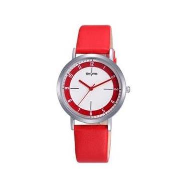 e1e9c2c6b73 Relógio Feminino Skone Analógico Casual Vermelho 9340