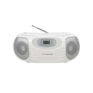 CD Player Portátil Philco PB119B com MP3, Entrada USB, Entrada Auxiliar e Rádio FM – 4W