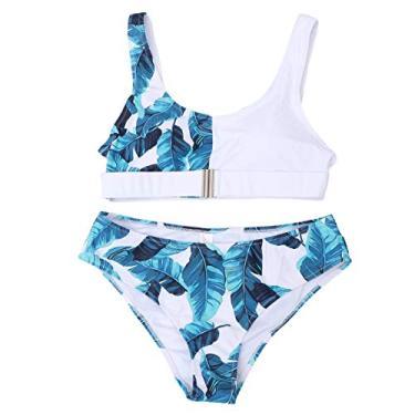 1 conjunto de lingerie biquíni lingerie uniformes cuecas tamanho s (branco azul)