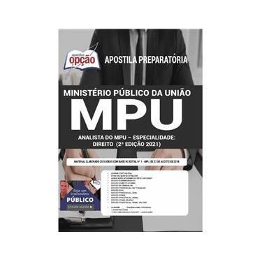 Imagem de Apostila Concurso Mpu Analista Do Mpu Especialidade Direito