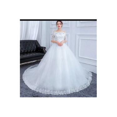 Vestido De Noiva Branco Lindíssimo