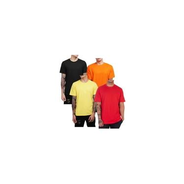 kit 4 camisetas masculinas camisas algodão lançamento