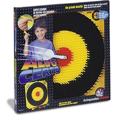 Jogo de Dardos Alvo Certo 4 Dardos sem Ponta 37x36x3,5cm Perfeito para Brincar com os Amigos e Familiares - 10490