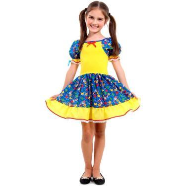 894abc8b6 Vestido de Festa Junina Caipira Caipirinha Infantil - G 9 - 12