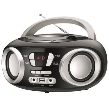 Rádio Portátil Mondial Boom Box NBX-13, USB, Auxiliar, Rádio FM, 6W, Preto - Bivolt