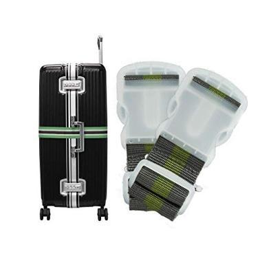 Kit 2 Cintas de Segurança para Mala de Viagem Bagagem Verde