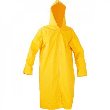 Capa para chuva de PVC com forro 110 m amarela G Vonder Amarelo