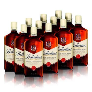 Kit Whisky Ballantine's Finest 1L - 12 Unidades