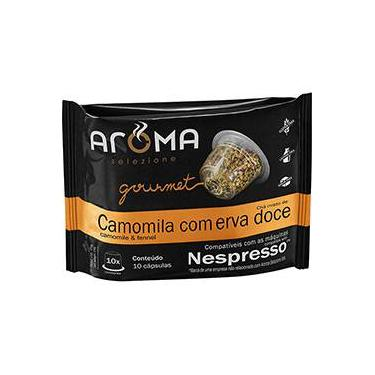 Cápsulas de Chá de Camomila Com Erva-Doce Aroma Selezione Compatível Nespresso - 10 Unidades