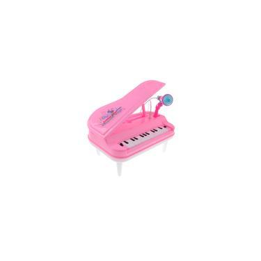 Imagem de Órgão Eletrônico Instrumento Musical Teclado Piano Crianças Brinquedo Rosa