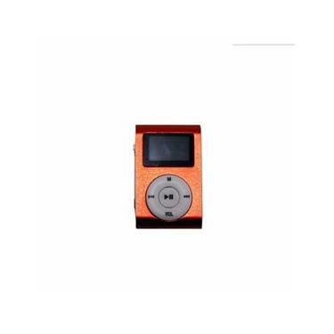 Mini Mp3 Player c/ Fone de Ouvido Vermelho