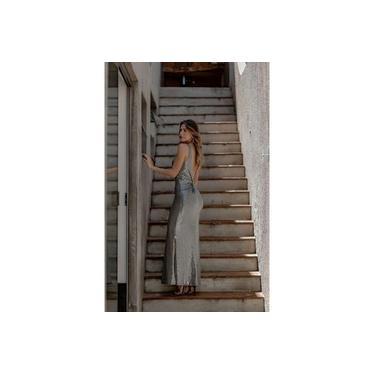 Vestido MissMisses com decote costas Prata