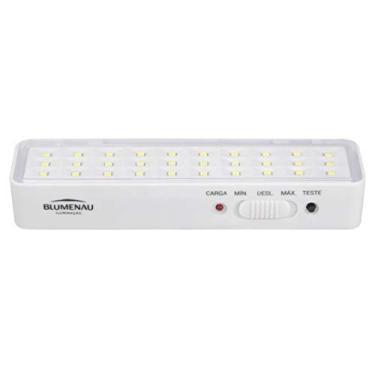 Imagem de Luminária de Emergência Auxiliar Blumenau 1W Bivolt 6500K Luz Branca