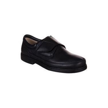 cec50328de Sapato Masculino Doctor Pé 1808 com Velcro Preto