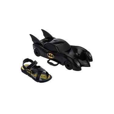 Sandalia Papete Infantil Menino Batman Batmovel Grendene Carro De Brinde 22169