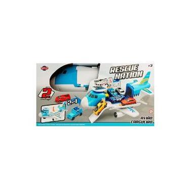 Imagem de Brinquedo Rescue Nation Kit Avião Cargueiro da Toyng
