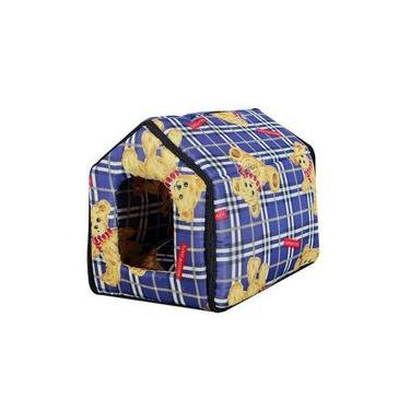 Casa Casinha Cama Pet Cachorro Animal - Tam Grande 37x42x35