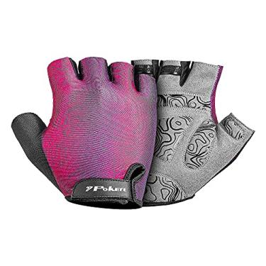 Luva Bike Poker Gel Swift 01930 Rosa/Roxo/Preto P