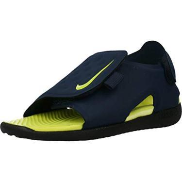 Nike Sandália Slide Sunray Fit 5 (td) infantil Aj9077-401, Azul-marinho/Veneno de limão - preto, 5 Toddler