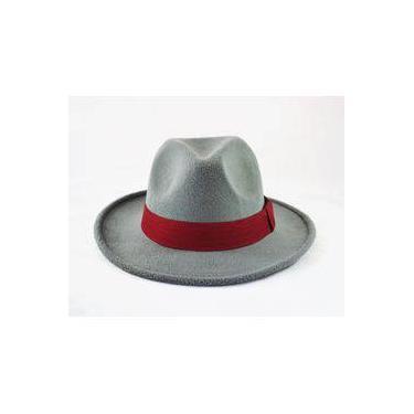 Chapéu Fedora Cinza - Aba Média - Customizado