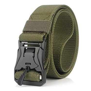 Cinto ajustável Funien 124 cm – Cintos de nylon masculinos e femininos com fivela magnética de liberação rápida para acampamento e caminhadas