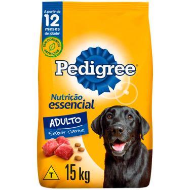 Ração Seca Pedigree Nutrição Essencial Carne para Cães Adultos Raças Médias e Grandes - 15 Kg
