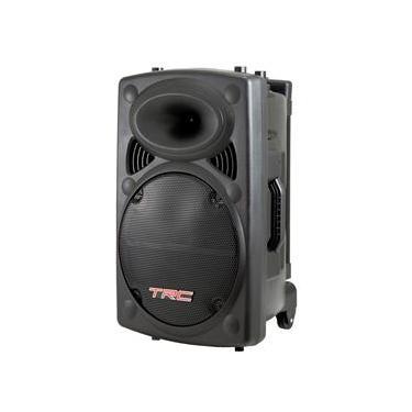 Caixa de Som Amplificada TRC 436 com Bluetooth, Rádio FM, Entrada USB e Iluminação Frontal em Led - 350W