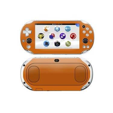 Kit Skin Adesivo Protetor PS VITA Playstation 2000 Slim (Laranja)