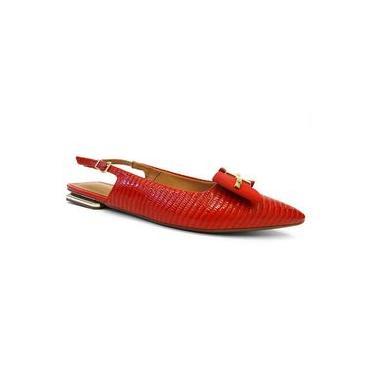 Sapatilha Slingback Bico Fino 1301.103 -vizzano 75 - Vermelho Verniz