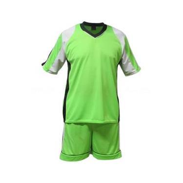 Uniforme Esportivo Texas 1 Camisa de Goleiro Florence + 10 Camisas Texas +10 Calções - Limão x Branco x Preto