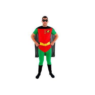 Imagem de Fantasia Robin Adulto Batman Sulamericana